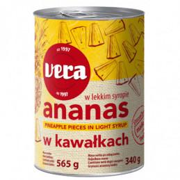 Ananasų gabaliukai sirupe...