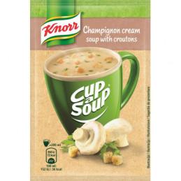 Tiršta pievagrybių sriuba...