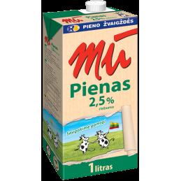 Pienas MŪ  2.5% rieb.,1l